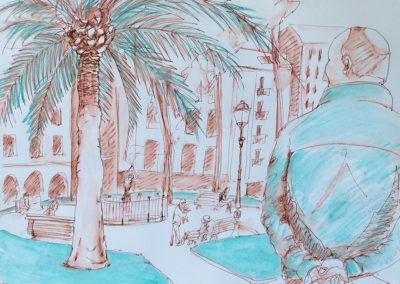 dibujatolrato Jardines de Albia